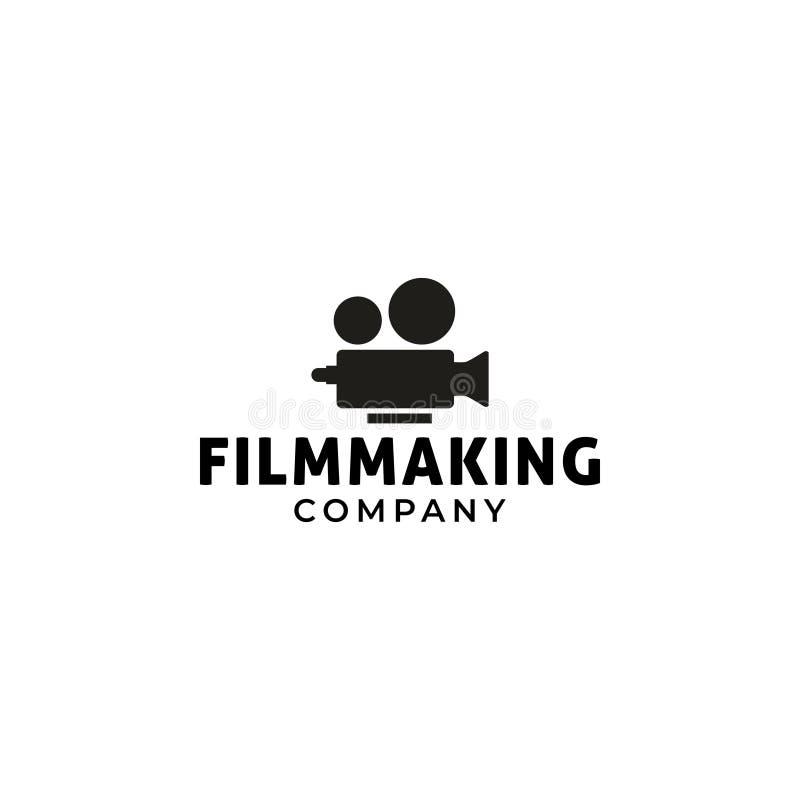 Film logo design template vector isolated illustration. Black, element, blank, retro, symbol, streaming, media, graphic, industry, concept, cinematography, art royalty free illustration