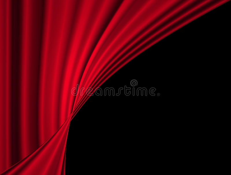 Film lub theatre zasłona royalty ilustracja