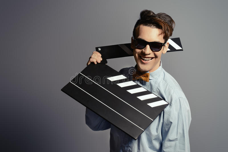 Film man stock photos