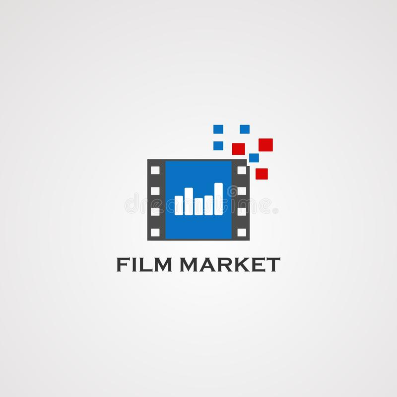 Film market logo vector, icon, element, and template for company vector illustration
