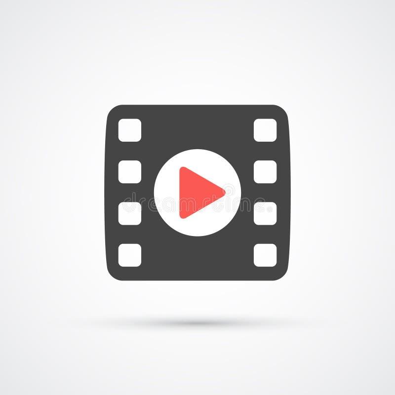 Film of Media Pictogram met spel Vector vector illustratie