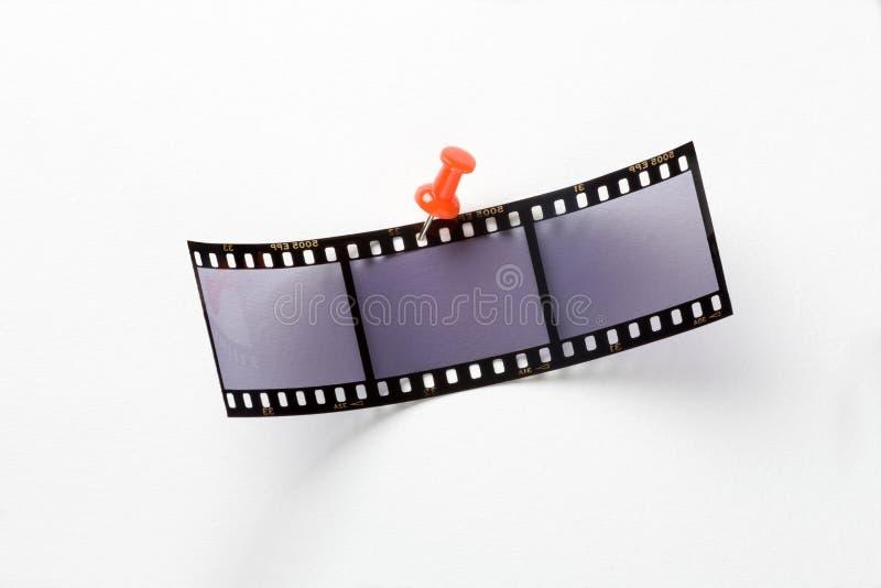Film met rode speld royalty-vrije stock foto's