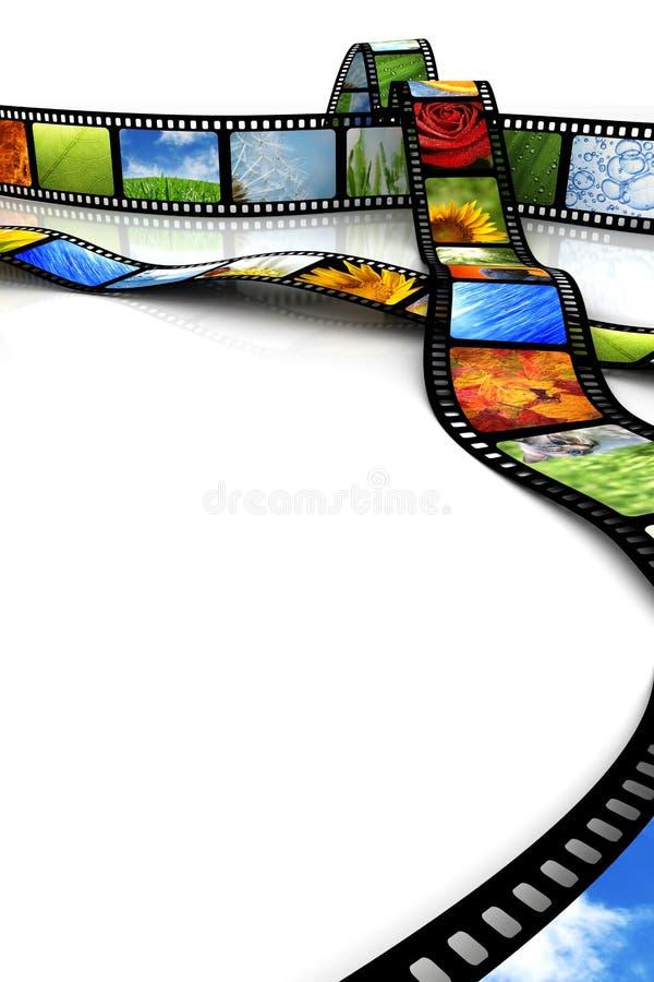 Film mit Bildern lizenzfreie abbildung