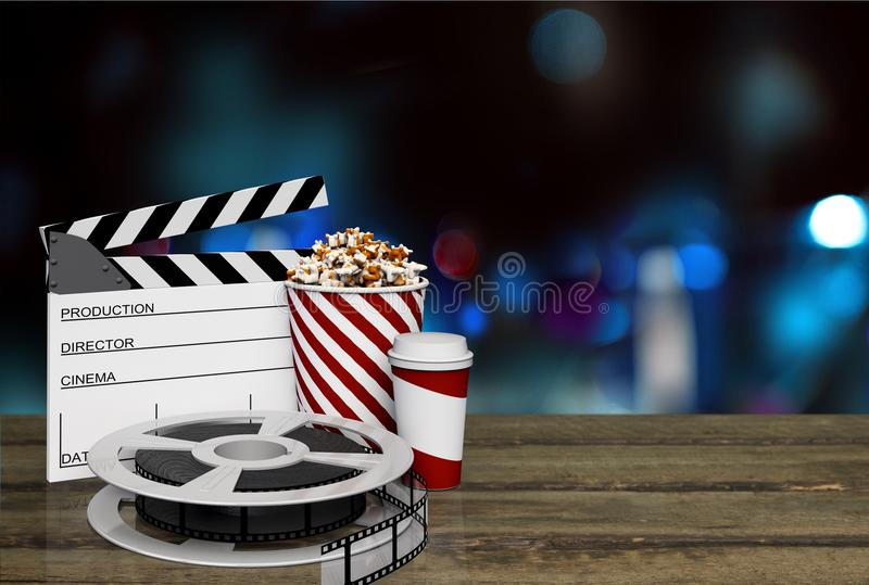 Film movie background. Cinema clapboard clapper clapperboard curtain director royalty free stock photo