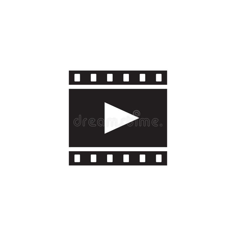 Film. Movie - black icon on white background vector illustration for website and mobile application. Film strip concept sign. Grap. Hic design element vector illustration