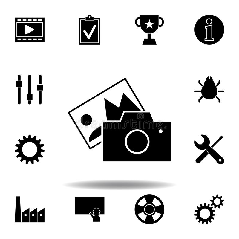Film, movie icon. Signs and symbols can be used for web, logo, mobile app, UI, UX royalty free illustration