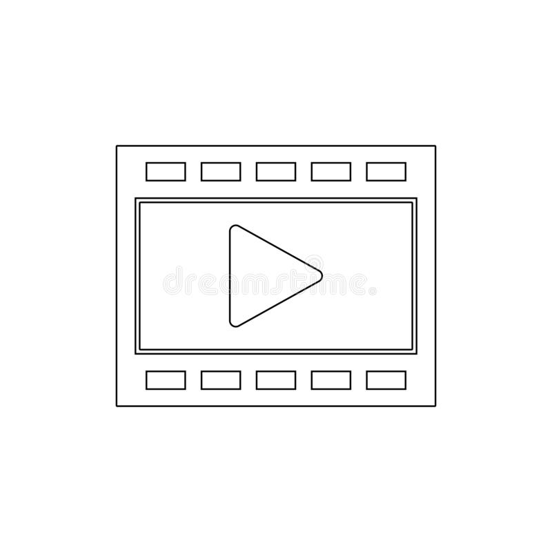 Film movie play video outline icon. Signs and symbols can be used for web, logo, mobile app, UI, UX royalty free illustration