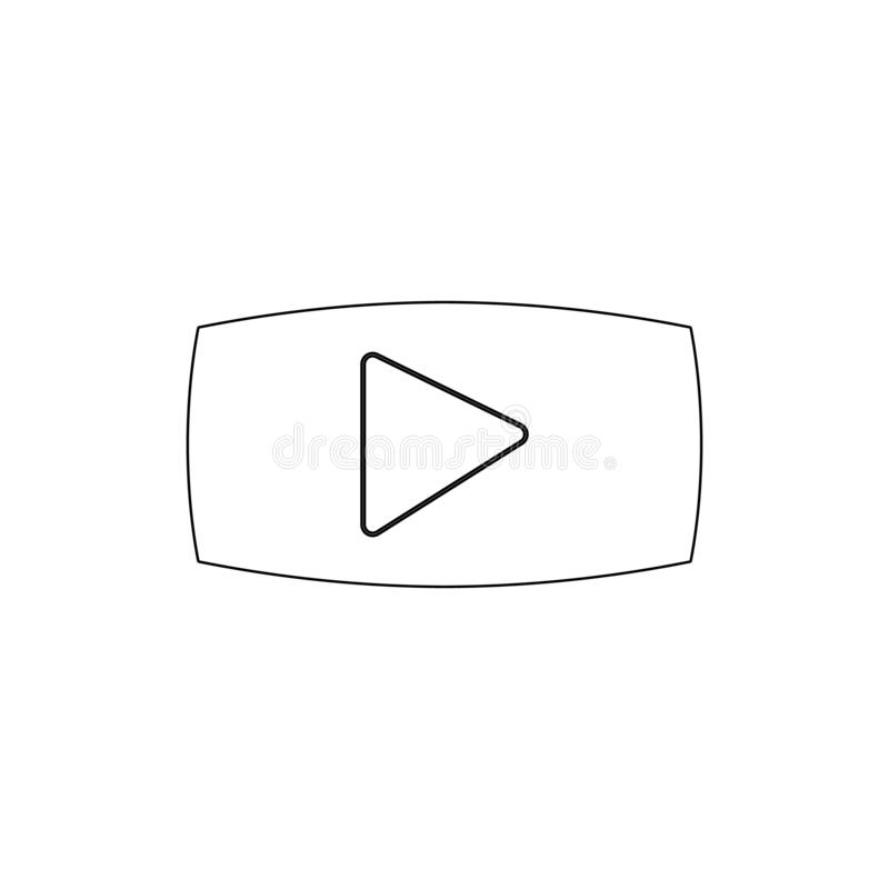 Film movie play video stream outline icon. Signs and symbols can be used for web, logo, mobile app, UI, UX vector illustration