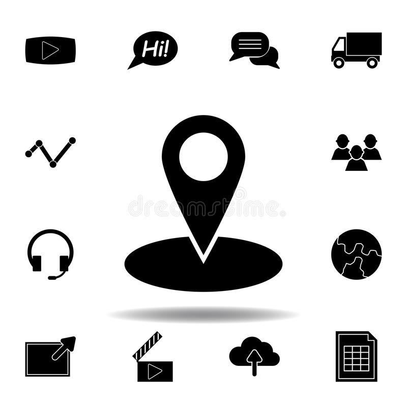 Film, movie, video play icon. Signs and symbols can be used for web, logo, mobile app, UI, UX vector illustration
