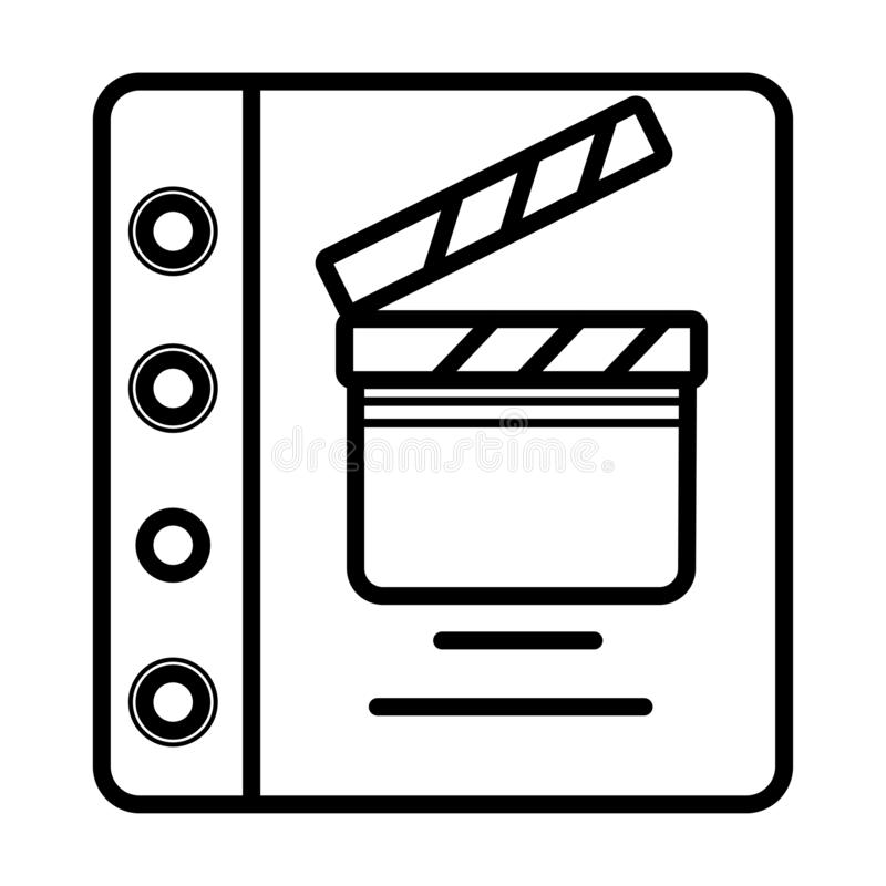 Film Movies Scripts Article. Icon royalty free illustration