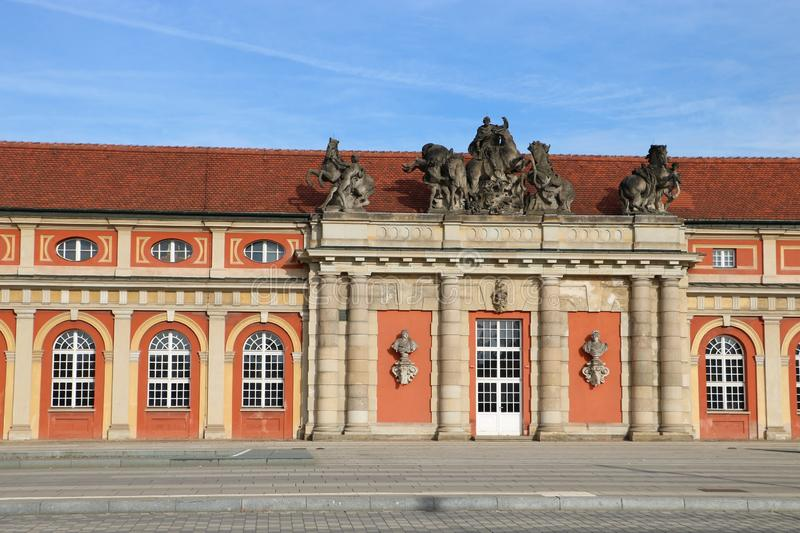 "Film museum in Potsdam, Germany. The Film Museum Potsdam is the oldest - established in 1981 - film museum in Germany and is located in the ""Marstall stock image"