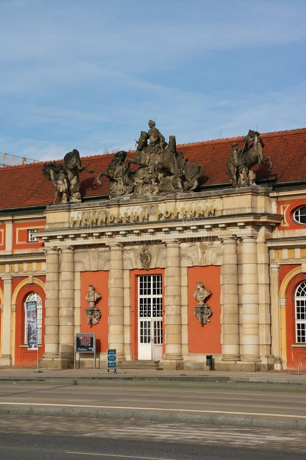 "Film museum in Potsdam, Germany. The Film Museum Potsdam is the oldest - established in 1981 - film museum in Germany and is located in the ""Marstall royalty free stock photo"
