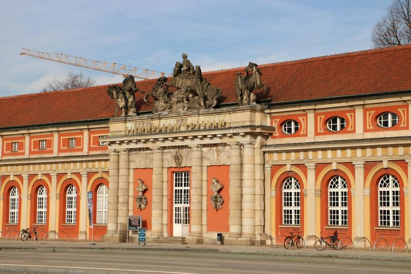 "Film museum in Potsdam, Germany. The Film Museum Potsdam is the oldest - established in 1981 - film museum in Germany and is located in the ""Marstall royalty free stock images"