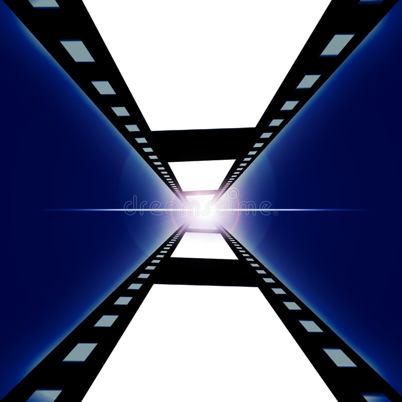 Film négatif illustration stock