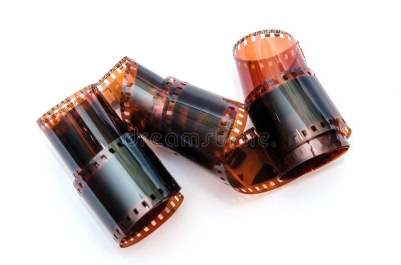 Film négatif de beaucoup de 35 millimètres images stock