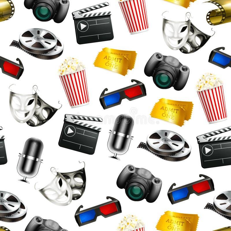 Film, nahtloser Hintergrund vektor abbildung