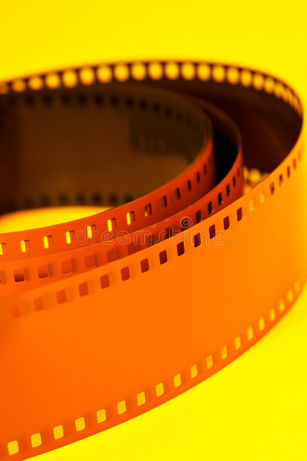 Film negative. On yellow background stock images