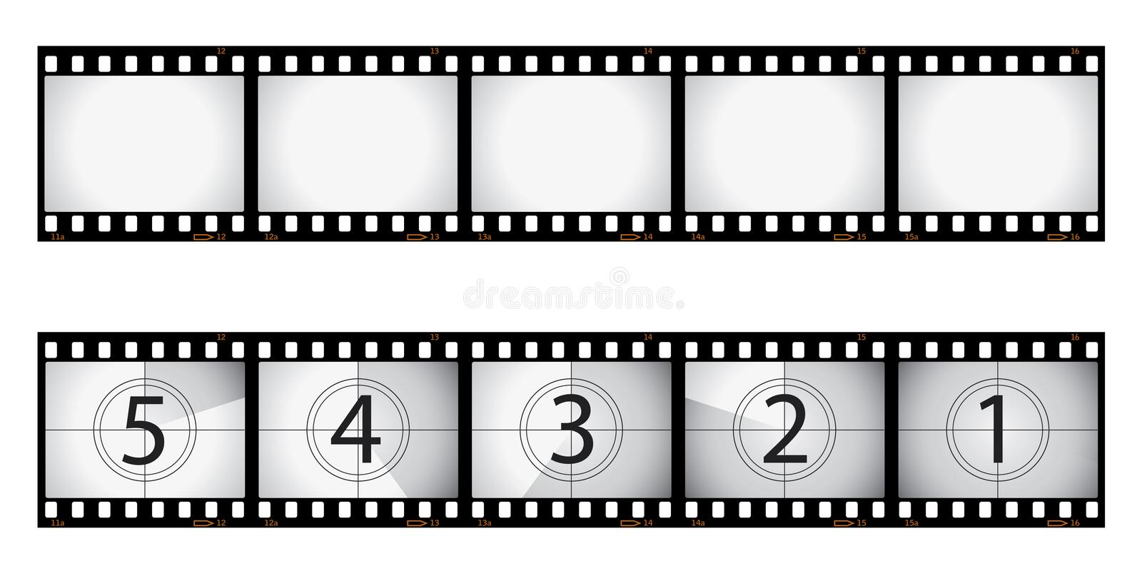 Film negative and countdown stock vector illustration of - Negativos de fotos ...