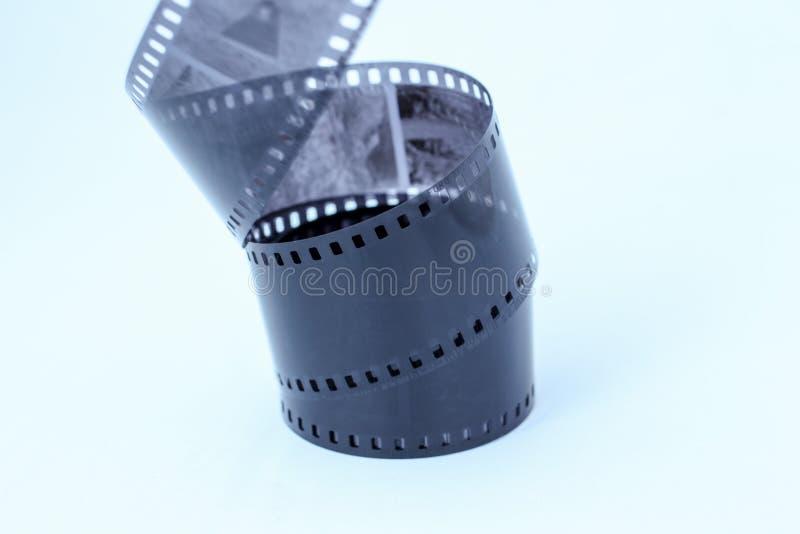 Film Negative on White Background. Film negative isolated on white background royalty free stock photo