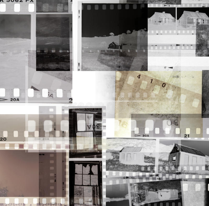 Film negatives stock image