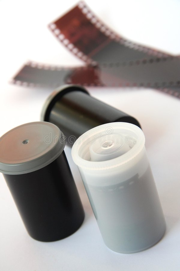 Film negatives. Film negatives on white background royalty free stock photography
