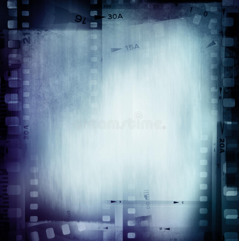 Film negatives. Frame, copy space royalty free stock image