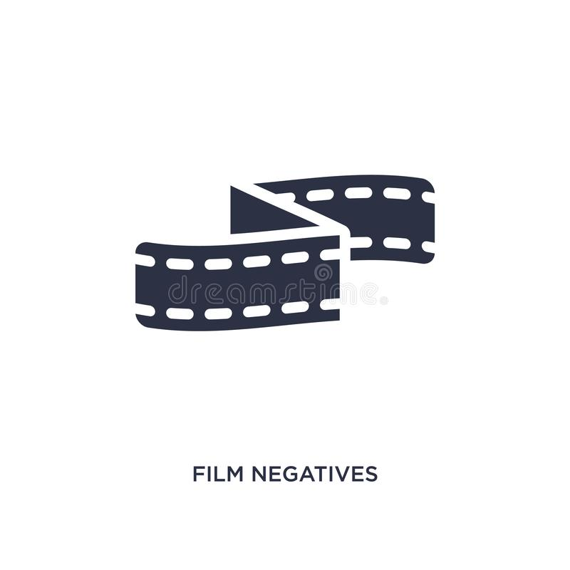 film negatives icon on white background. Simple element illustration from cinema concept stock illustration