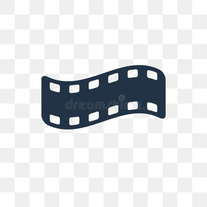 Film negatives vector icon isolated on transparent background, F royalty free illustration