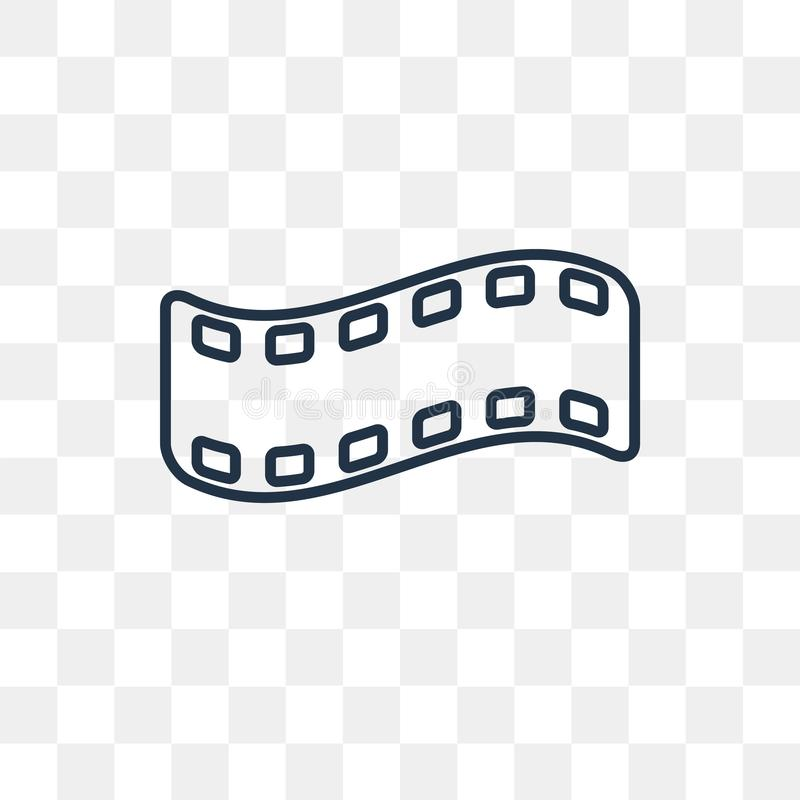 Film negatives vector icon isolated on transparent background, l stock illustration