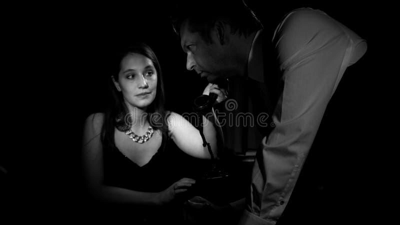 Film noir royalty-vrije stock afbeeldingen