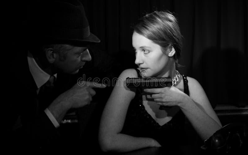 Film noir royalty-vrije stock afbeelding