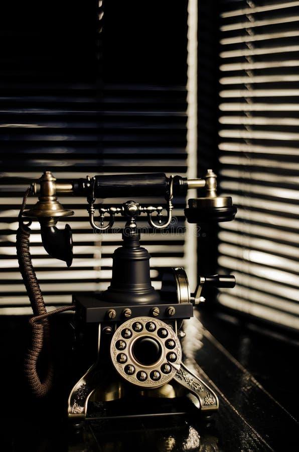 Film Noir Weinlese-Telefon lizenzfreie stockfotos