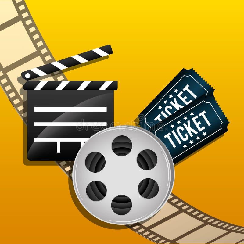 Film- och biosymboler vektor illustrationer