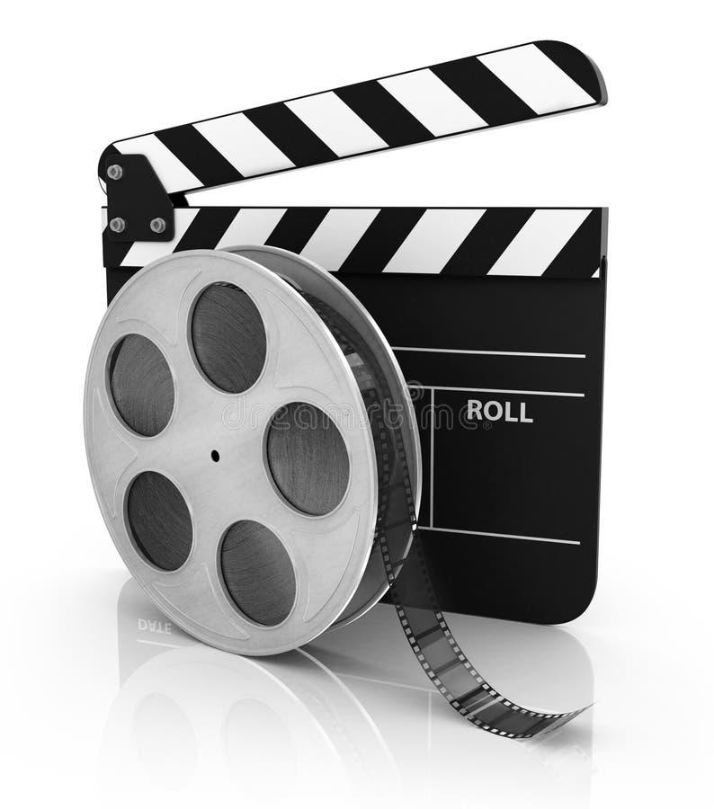 Film- och Clapperbräde royaltyfri fotografi