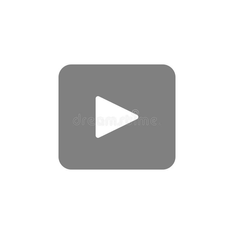 Film- och leksymbol Beståndsdel av användargränssnittsymbolen för mobila begrepps- och rengöringsdukapps Den specificerade film-  vektor illustrationer
