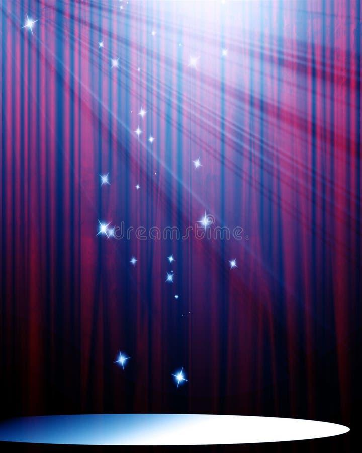 Film oder Theatertrennvorhang stock abbildung