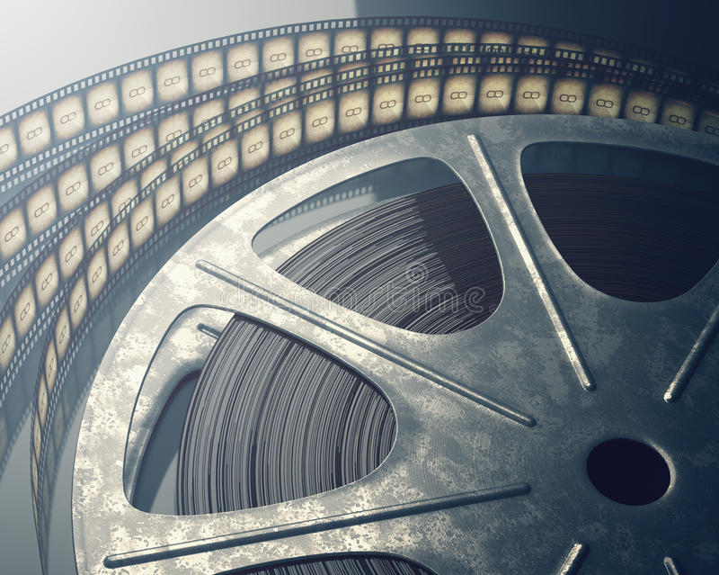 film odizolowywający rolki biel fotografia stock