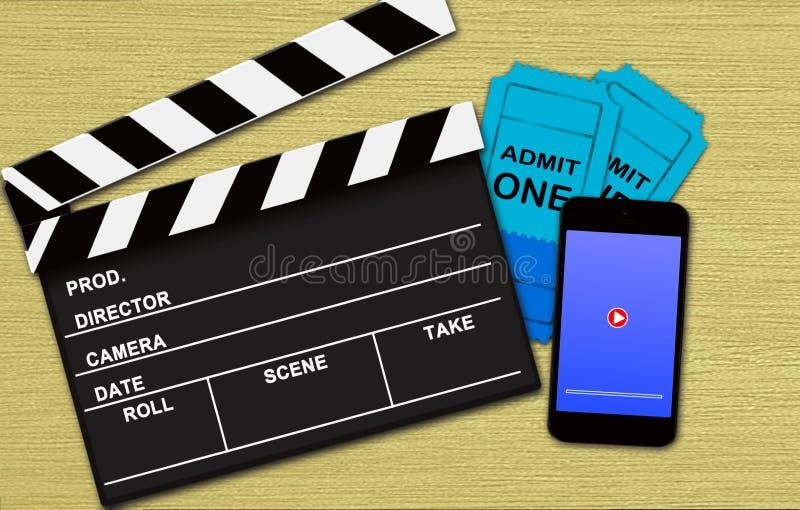 Film online het boeken concept royalty-vrije stock foto