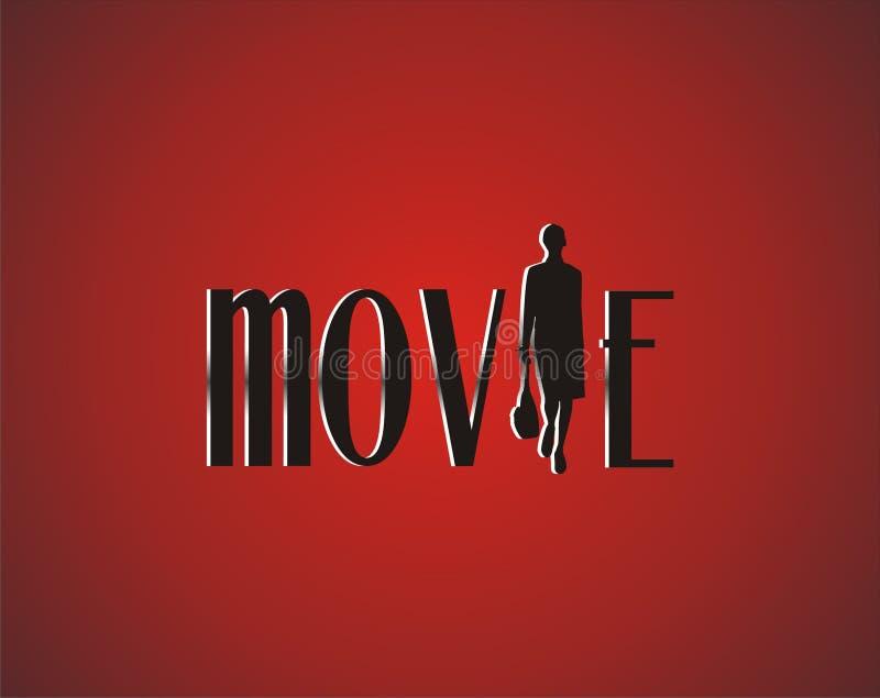 Film op rood tapijt stock illustratie