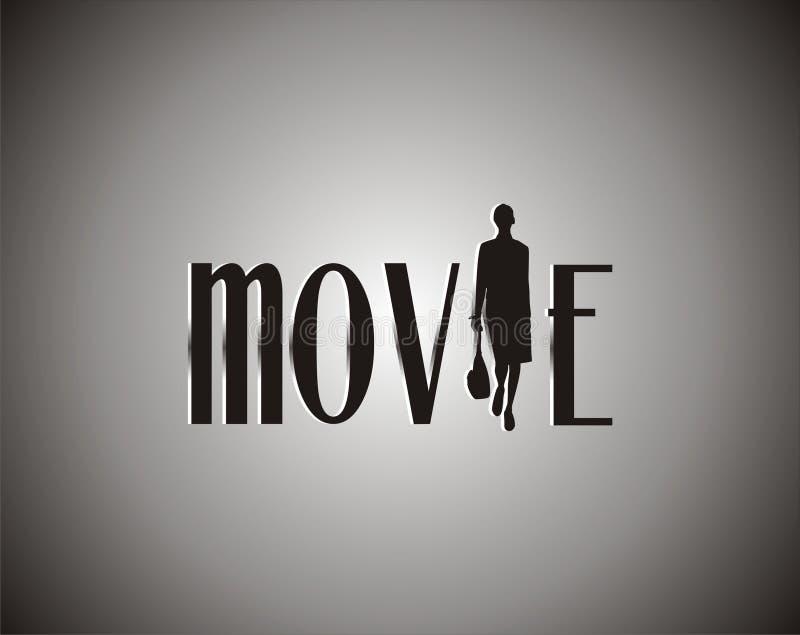Film op zwart-wit vector illustratie