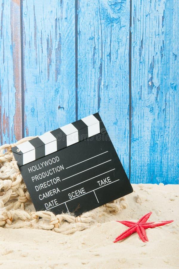 Film på stranden arkivfoton