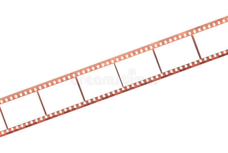 Film photographique avec les trames vides images stock