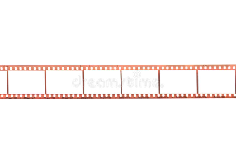 Film photographique avec les trames vides photographie stock