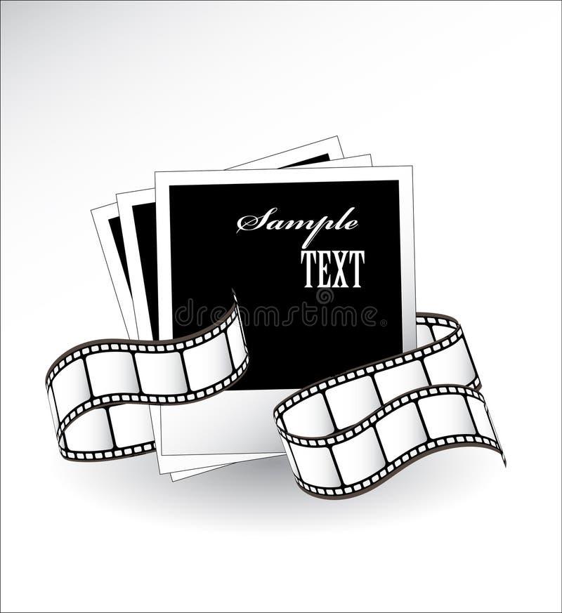 Film photographique et blancs incurvés de film illustration libre de droits