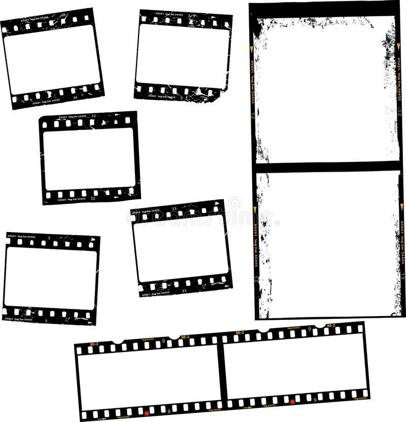 Film photographique, rayures de film, cadres de photo, l'espace d'exemplaire gratuit illustration de vecteur