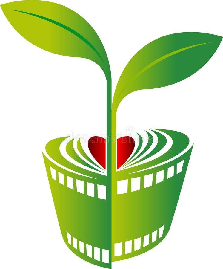 Film plant design stock illustration
