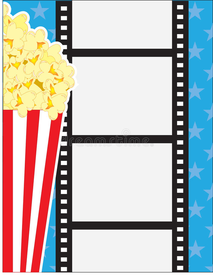Download Film and Popcorn stock illustration. Image of theatre - 23020791