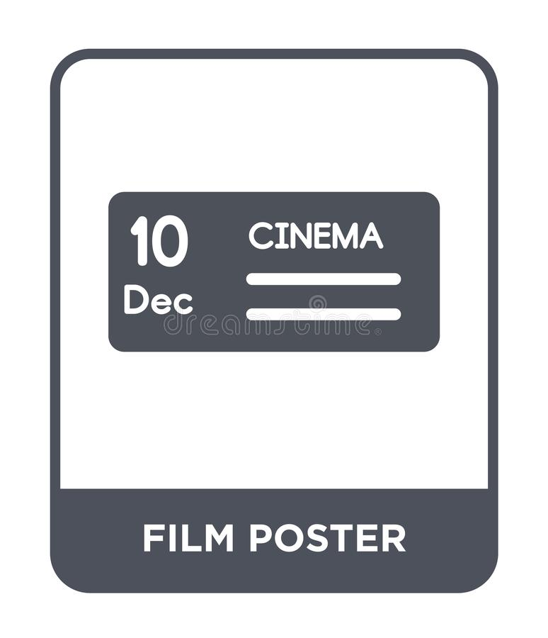 film poster icon in trendy design style. film poster icon isolated on white background. film poster vector icon simple and modern vector illustration