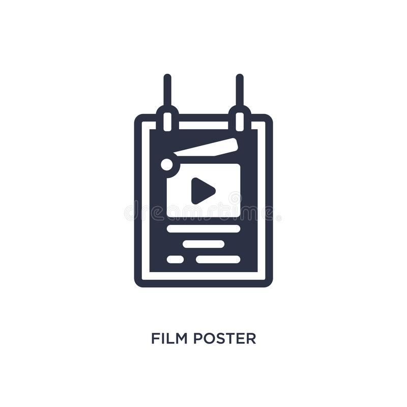 film poster icon on white background. Simple element illustration from cinema concept royalty free illustration