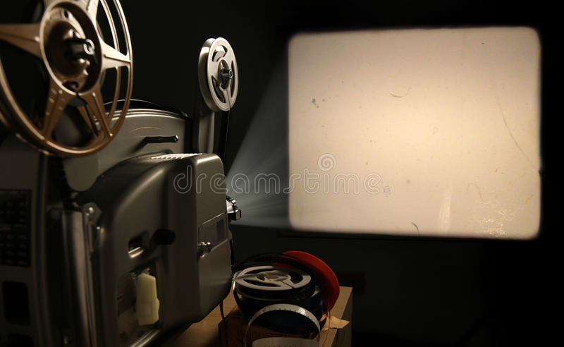 Film Projector with Blank Frame royalty free stock photo